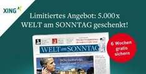 """6 Wochen """"Welt am Sonntag"""" kostenlos bekommen"""
