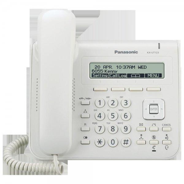 PANASONIC KX-UT123NE SIP Telefon weiss 3 Zeilen Display PoE