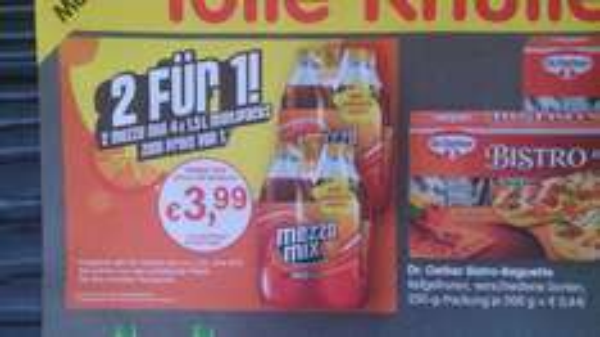 Mezzo Mix 0,33€ / Liter @ Treff 3000