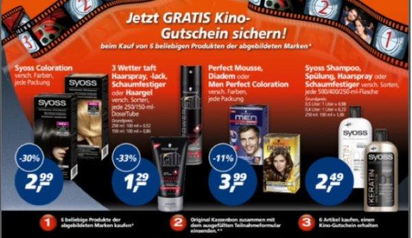 Kinogutschein beim Kauf von 6  Schwarzkopfprodukten [Real]