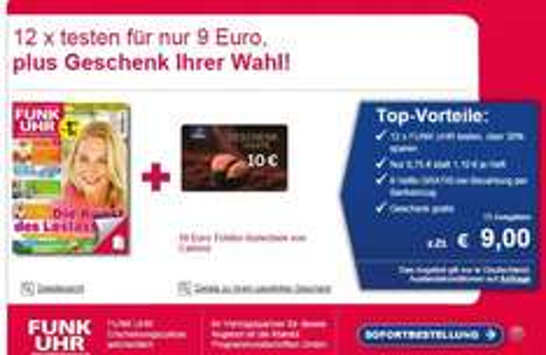 12x Funkuhr für 9EUR / 10 EUR Tchibo Karte als Prämie