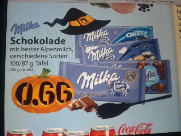 (LOKAL ) EDEKA CENTER STUVE HAMBURG Milka Schokolade