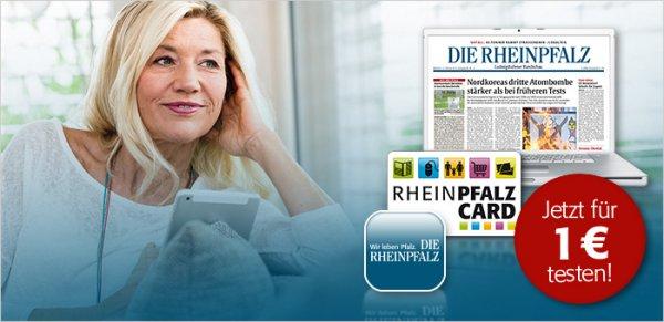 RHEINPFALZ Premium-Plus Abonnement für 1,- Euro testen (statt 33,90 €)