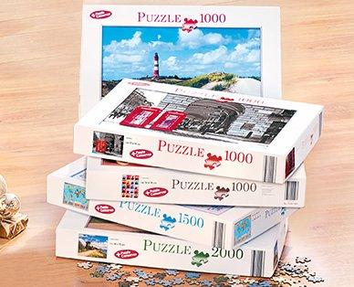 Puzzle bei Aldi Süd 1000 bis 2000 Teile 3,99 €