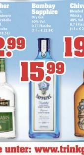Bombay Sapphire Dry Gin 0,7 l 40% bei trinkgut