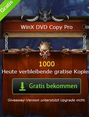 [HALLOWEEN GIVEAWAY] €39,95 DVD Copy Software kostet jetzt €0,00. 1000 Kopien pro Tag.