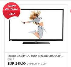 Toshiba 32L3441DG - Full HD-LED TV-200Hz-Smart TV--- 249,- inkl. Versand