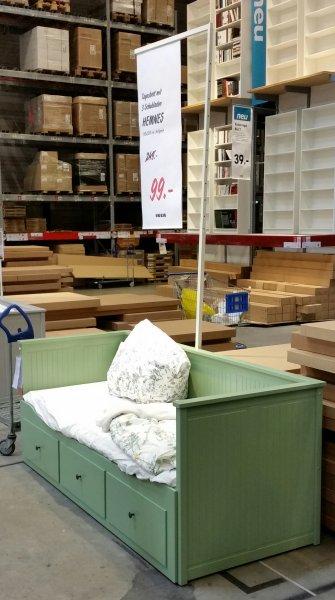 IKEA Ludwigsburg HEMNES Bettgestell hellgrün oder grau