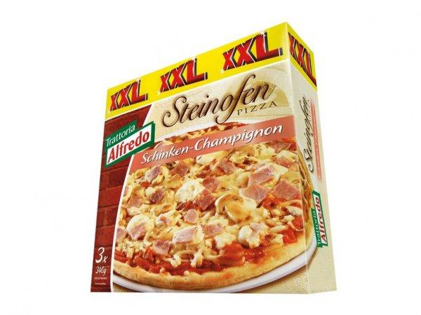 (Trattoria Alfredo) Steinofenpizza Schinken-Champignon - 3 Stück für 2,99€ @Lidl