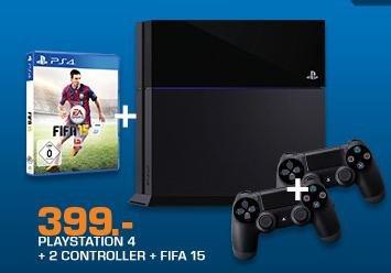 Playstation 4 + 2. Controller + Fifa 15  für 399€