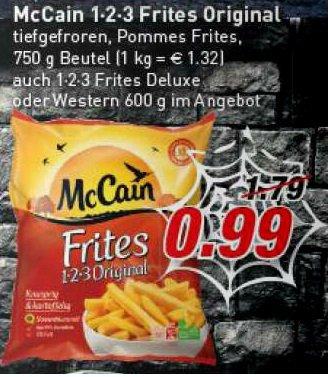 [Marktkauf] McCain 1-2-3 Frites und Frites Delux Pommes , Western und andere  für 0,99€