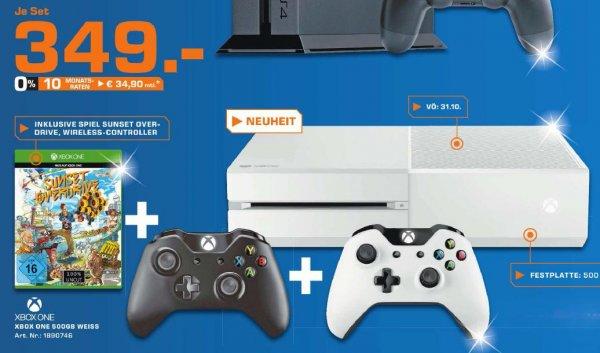 [lokal] Saturn Ingolstadt - Xbox One 500GB inkl. Controller (weiß) + 2. Controller (schwarz) + Sunset Overdrive für 349€