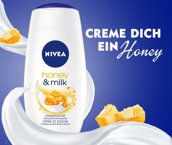 [BUDNIKOWSKY] 3x Nivea Dusche Honey & Milk 250ml für 1,04= 0,34€/Stück (Angebot+Coupon)
