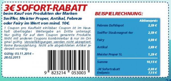 [Real]  4 Fairy Spülmittel kaufen für 3,96€ und nur 0,96€ bezahlen/ Stückpreis 0,24€  ab Montag 3.11