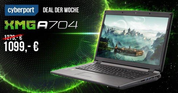 XMG A704-7OX für 180€ weniger bei Cyberport