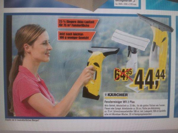 (offline?) Kärcher Fensterreiniger WC 2 Plus für 44,44€