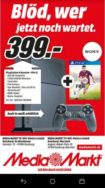 (Lokal Duisburg) PS4 + Fifa 15 + Last of Us + 2. Controller