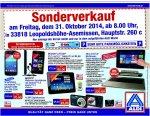 [Lokal Bielefeld, Leopoldshöhe] Aldi Sonderverkauf 31.10., z.B. Medion Akoya S6214T für 220 EUR (PVG 499 EUR)