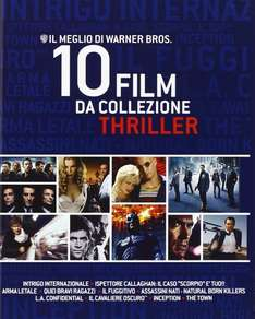 Warner Bros. Thriller Collection (10 Blu-Ray) für 24,92€ @Amazon.it