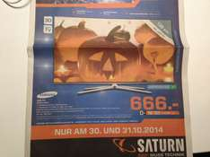 (Lokal Saturn Hürth 50354) - Samsung  UE55H6270 am 30. & 31. Oktober