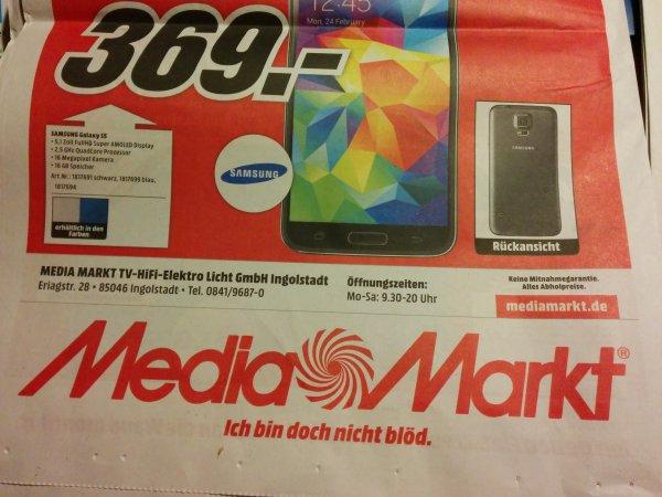 [Lokal] Samsung Galaxy S5 16GB für 369€ @Mediamarkt Ingolstadt