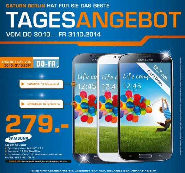 Samsung Galaxy S4 (Value) @ Saturn - Lokal Berlin (?)