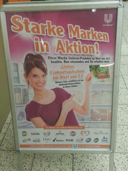 [GLOBUS KÖLN MARSDORF / BUNDESWEIT??] - Für 10€ Unilever Produkte kaufen - 5€ Geschenkkarte bekommen