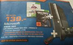 Saturn Ludwigshafen XBOX 360 4GB + Peggle 2 + FIFA 15 + CALL OF DUTY Ghost und 16GB Stick