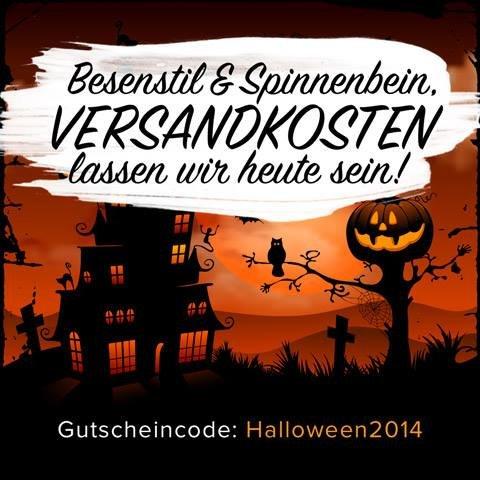 kostenloser Versand bei getgoods.de an Halloween - 31.10.2014 - per Gutscheincode