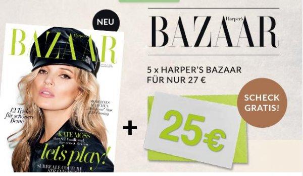 5x Harpers Bazaar für effektiv 2€