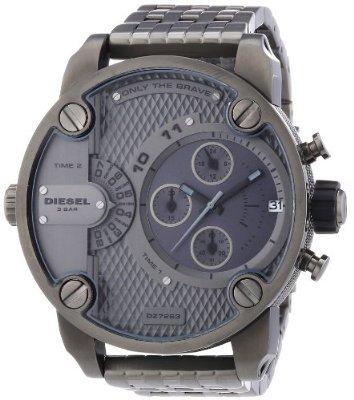 Diesel Herren-Armbanduhr XL SBA Chronograph Quarz Edelstahl beschichtet DZ7263