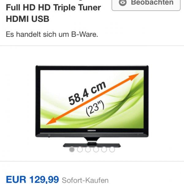 MEDION P14081 MD 21162 LED-Backlight TV Full HD HD Triple Tuner HDMI USB (B-Ware)