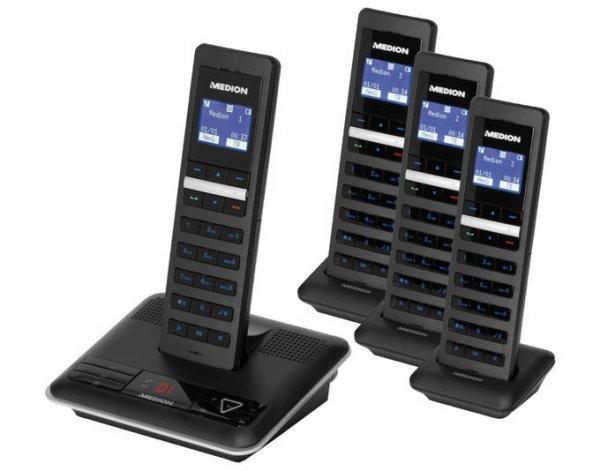 DECT Telefon MEDION® LIFE® S63114 mit 4 Mobilteilen nur heute @Plus 64.95€