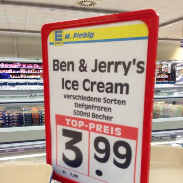 Ben & Jerry's alle Sorten je 3,99€