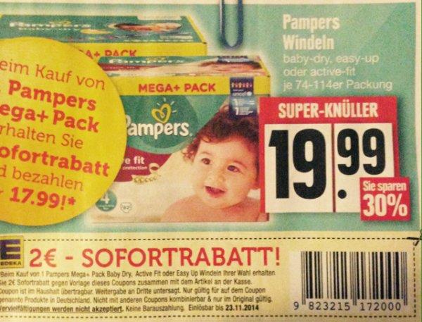 Pampers Edeka -30% u. 2€ Rabatt 17,99€