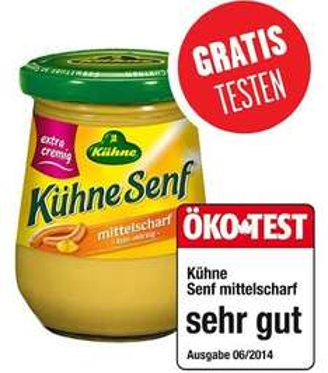[BUNDESWEIT] Gratis Kühne Senf Glas 250ml + 0,62€ GEWINN (SCONDOO FREEBIE)