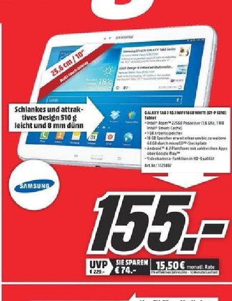 "Samsung Galaxy Tab3 10.1 16GB WiFi für 155€,Sony Xperia Z1 für 266€ UVM. (LOKAL) Mediamarkt Köln City ""SONNTAGSANGEBOT"""