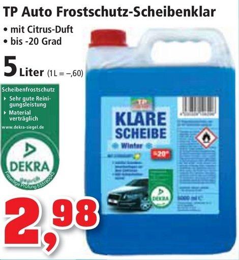 Scheibenfrostschutz 5 Liter für 2,98€, Frostschutz für Scheibenwaschanlagen bei Thomas Philipps