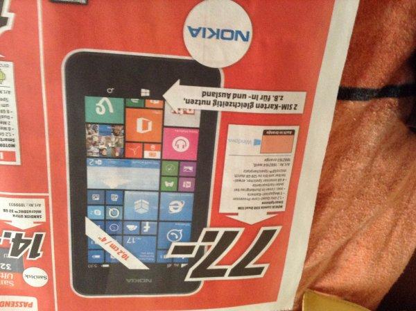 Nokia Lumia 530 Dual Sim 77€ Media Markt