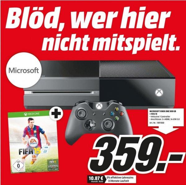 [Lokal] Microsoft Xbox One - 500GB, FIFA 15 Bundle für nur 359€ bei Mediamarkt Köln Chorweiler