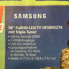 """[real Ansbach + Online] 58"""" Samsung UE58H5270 3.11.-8.11."""