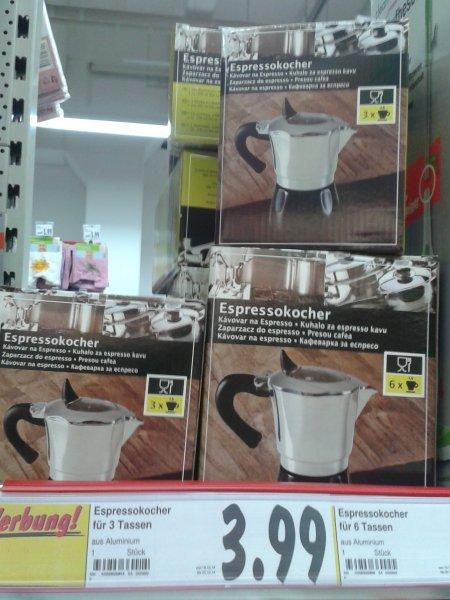 [offline Kaufland lokal Freiberg?] Espressokocher 3 Tassen für 3,99 € und 6 Tassen 4,99 €