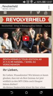 Revolverheld - Spinner Tour Edition