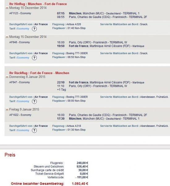 Weihnachtsstress ade: Weihnachten und Neujahr in der Karibik (Martinique) für 587,20€