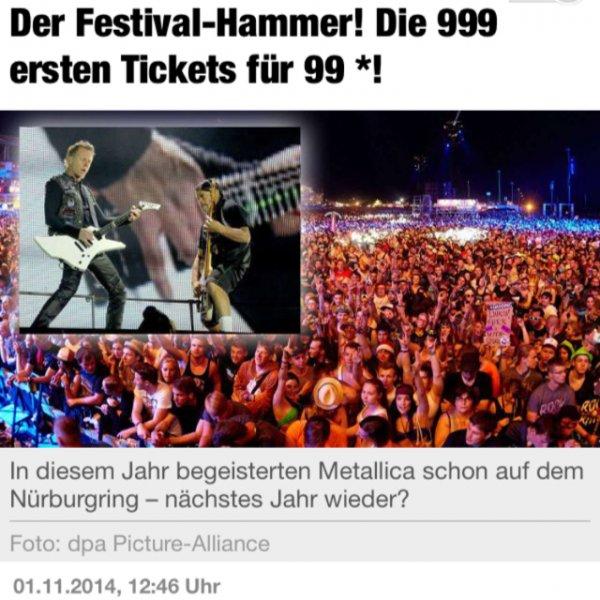 """3 Tages Ticket """"Der Ring"""" Nürburgring 29-31.5.15 nur 109€ statt 169€"""