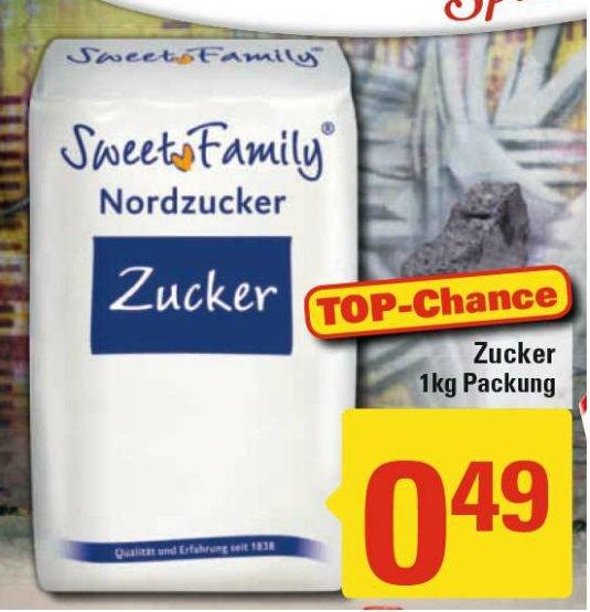 Marktkauf & Edeka  : Nordzucker Haushaltszucker 1kg 0,49€