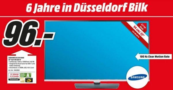 [LOKAL: Media Markt Düsseldorf Bilk ] SAMSUNG 22 Zoll TV/Monitor UE22H5000 für 96 EUR