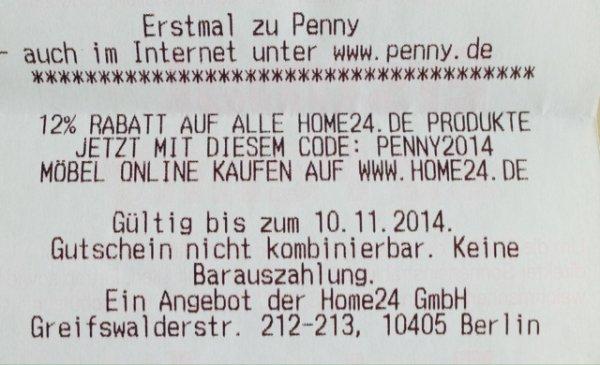 12% Rabatt auf alle Home24.de Produkte