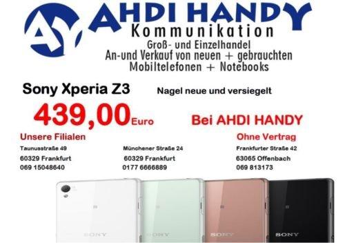 [Lokal Frankfurt + Offenbach] Sony Xperia Z3 für 439€