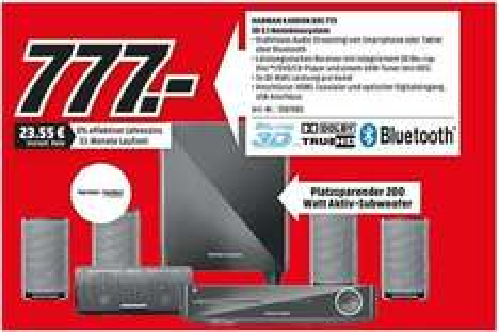 Media Markt Magdeburg Harman-Kardon BDS 775 3D 5.1 Heimkinosystem 777,00 EUR